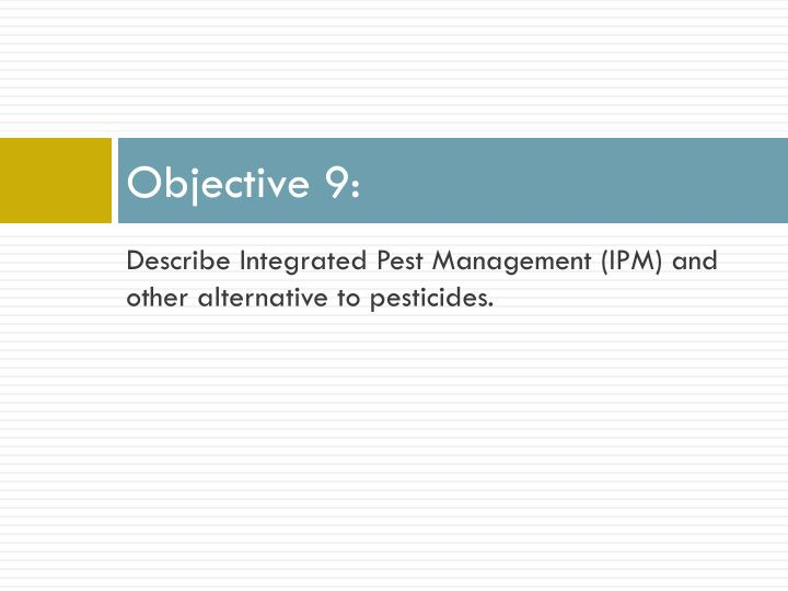 Objective 9: