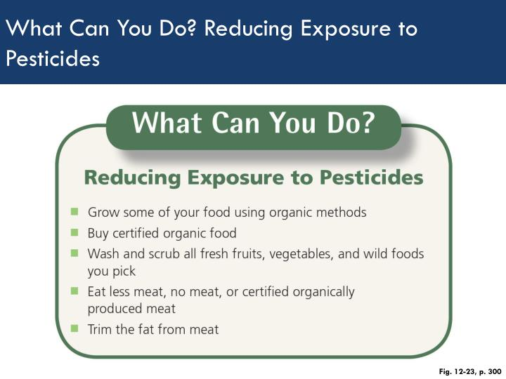 What Can You Do? Reducing Exposure to Pesticides