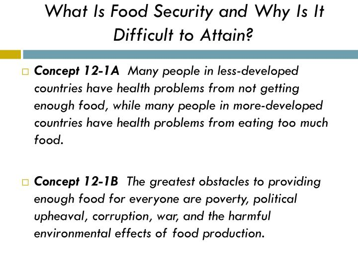What Is Food Security and Why Is It Difficult to Attain?