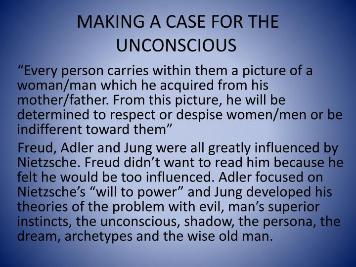 freud and jung the unconscious Sigmund freud described the unconscious as the reservoir of all the thoughts, feelings, and urges that lie outside of awareness learn more.