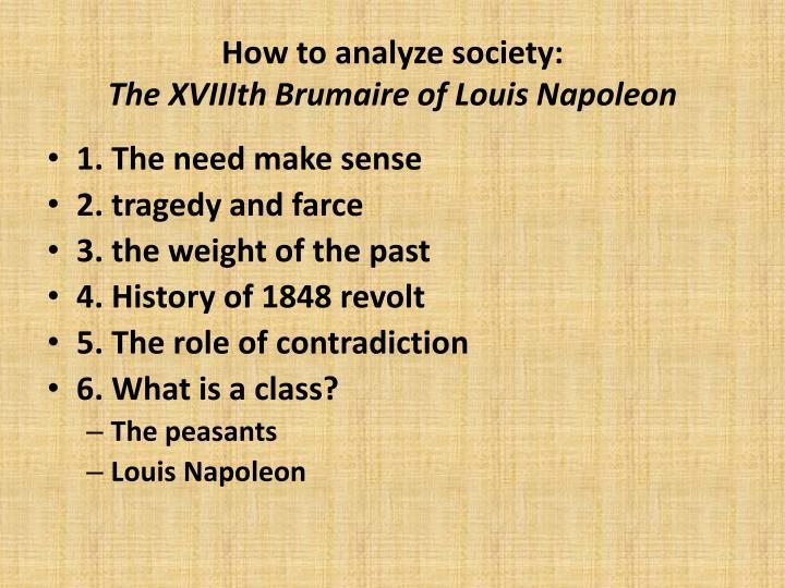 How to analyze society: