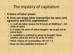 the mystery of capitalism