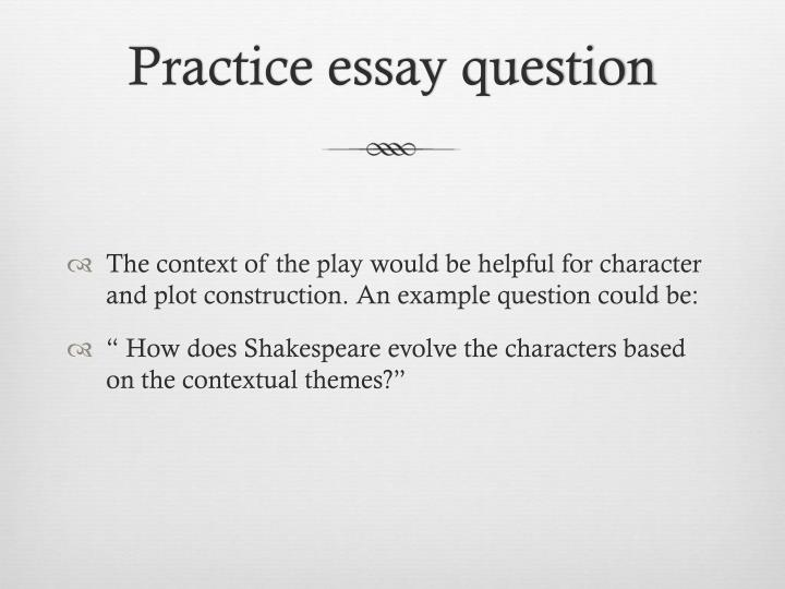 Practice essay question