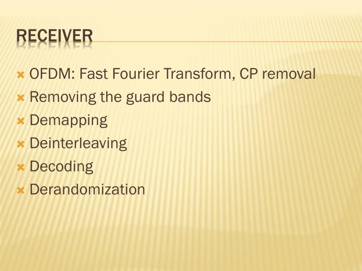 OFDM: Fast Fourier Transform, CP removal
