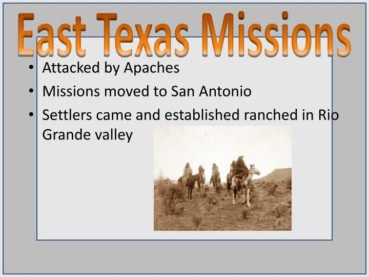 East Texas Missions