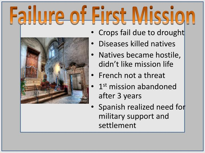 Failure of First Mission