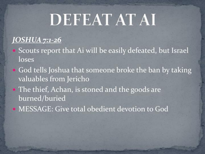 DEFEAT AT AI