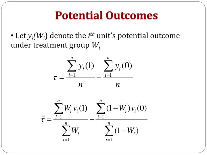 Potential Outcomes