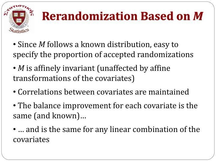 Rerandomization Based on