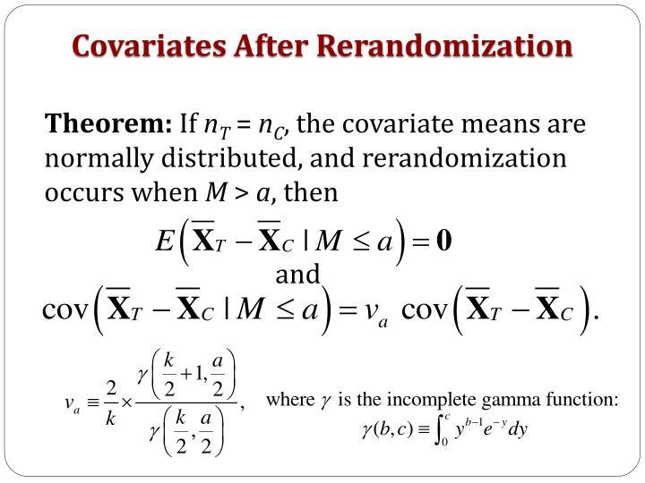 Covariates After Rerandomization