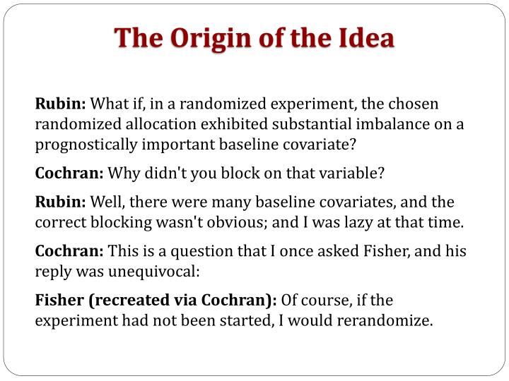 The Origin of the Idea