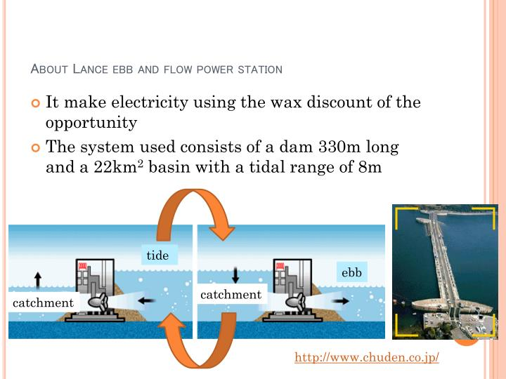 About Lance ebb and flow power station