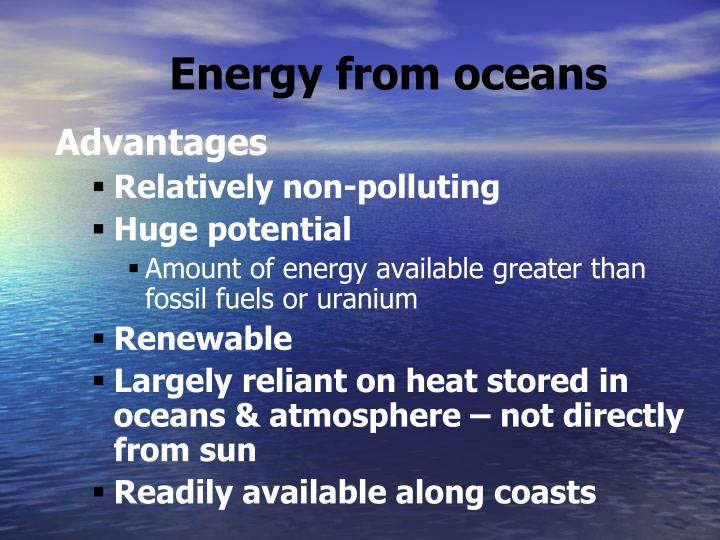 Energy from oceans