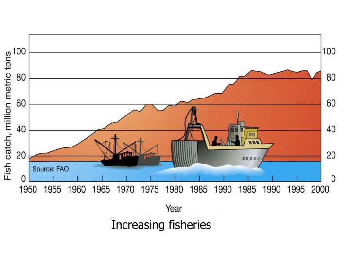 Increasing fisheries