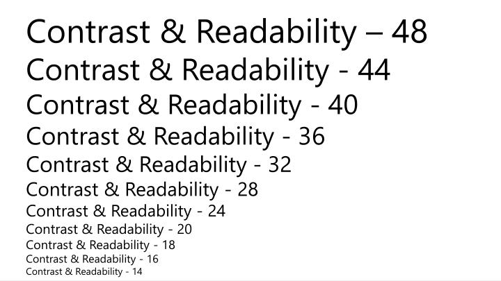 Contrast & Readability – 48