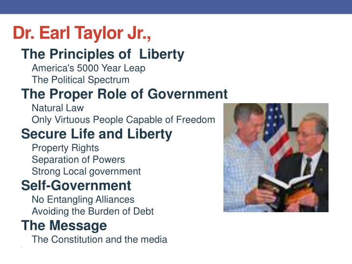 Dr. Earl Taylor Jr.,