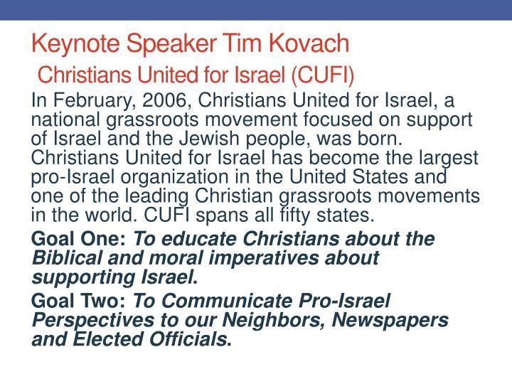Keynote Speaker Tim Kovach