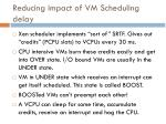 reducing impact of vm scheduling delay