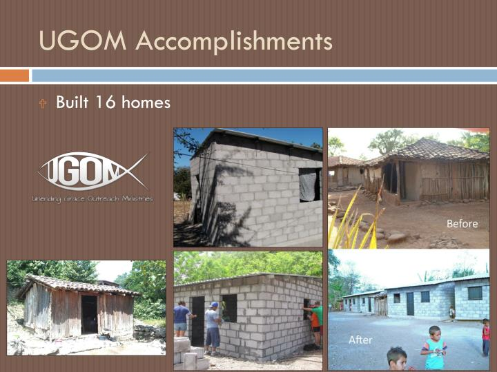 UGOM Accomplishments