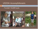 ugom accomplishments1