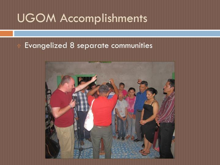 UGOM Accomplishments