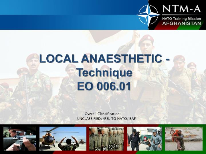 Local anaesthetic technique eo 006 01