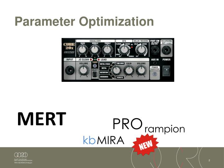 Parameter Optimization