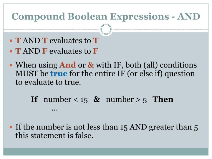 Compound Boolean