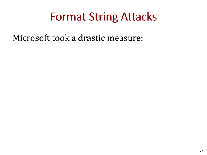 Format String Attacks