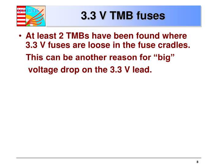 3.3 V TMB fuses