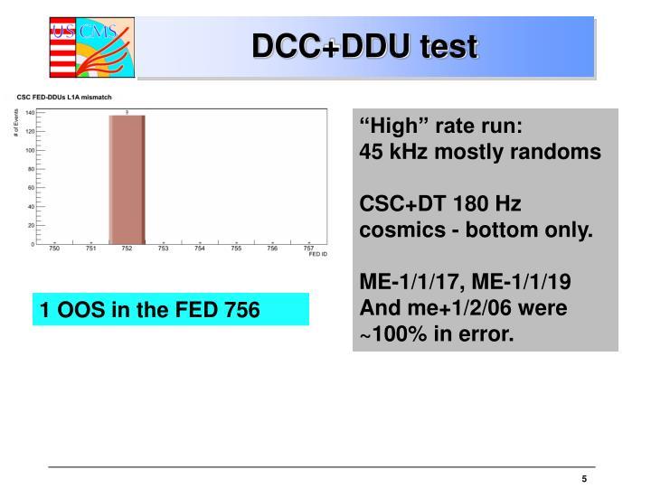 DCC+DDU test
