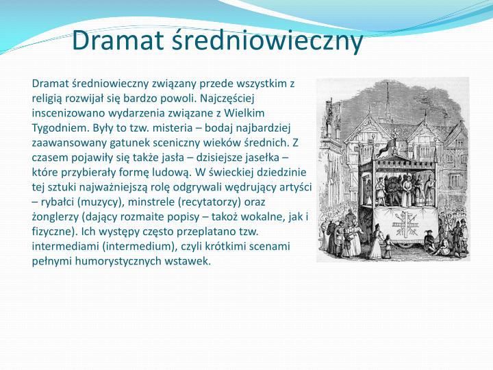 Dramat średniowieczny
