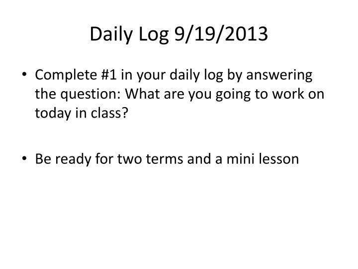 Daily Log