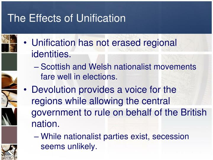 The Effects of Unification