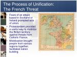 the process of unification the french threat