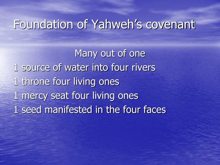 Foundation of Yahweh's covenant