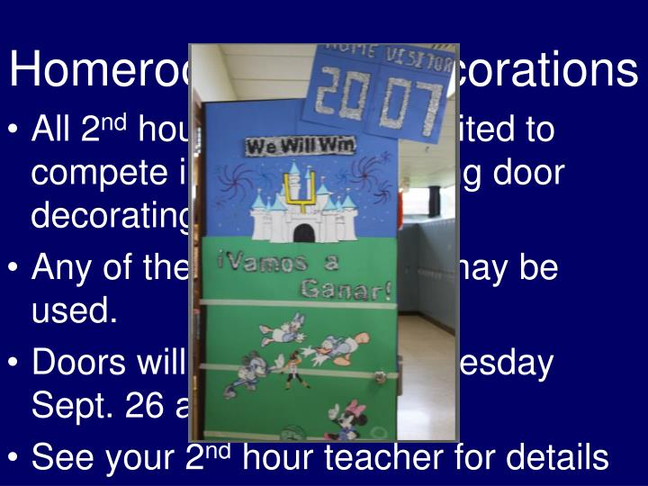 Homeroom Door Decorations
