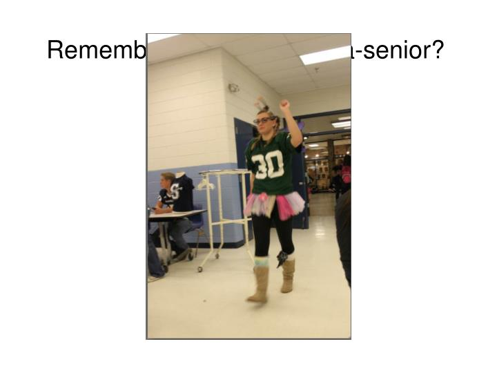 Remember last year's sell-a-senior?