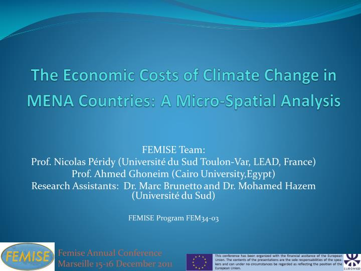 The Economic Costs of Climate Change in MENA Countries:
