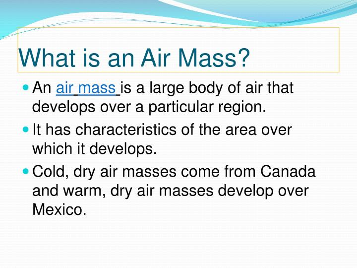 What is an Air Mass?