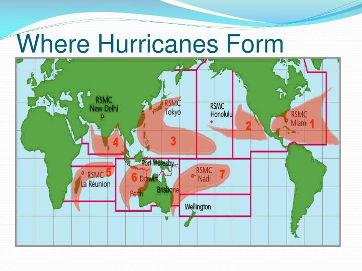 Where Hurricanes Form