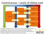 control group levels of sliding scale