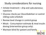 study considerations for nursing