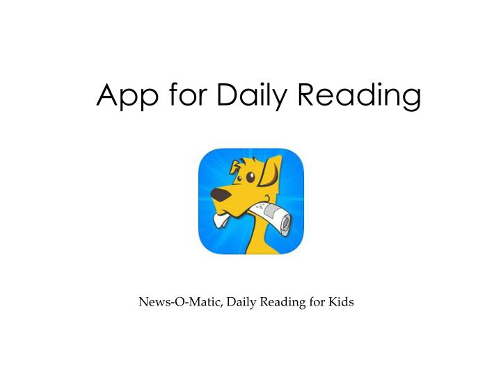 App for Daily Reading
