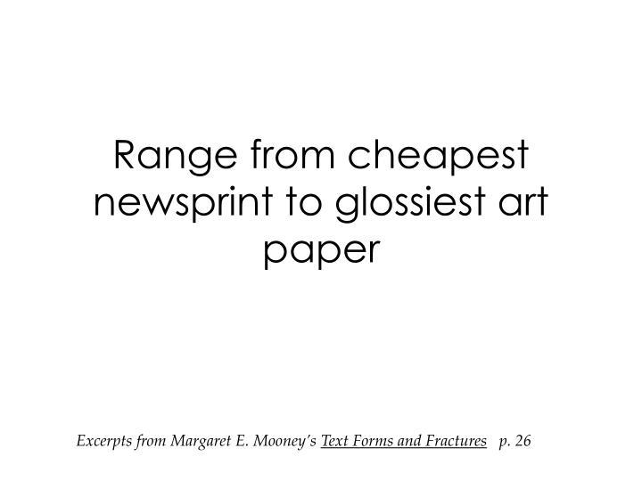 Range from cheapest