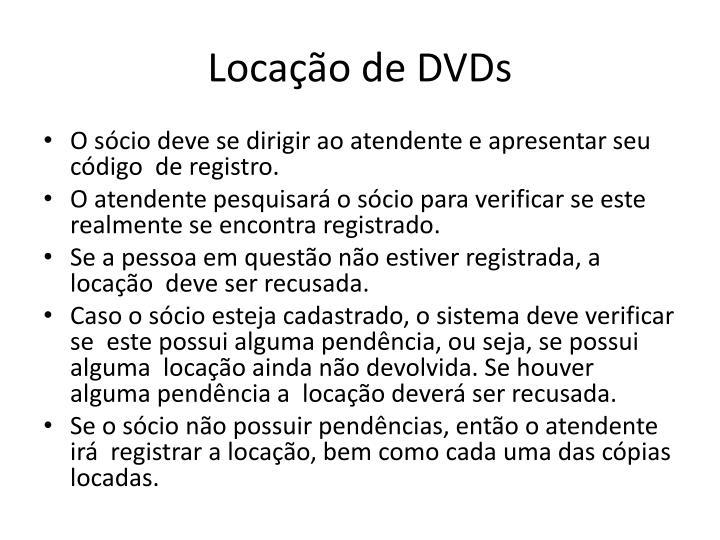 Locação de DVDs