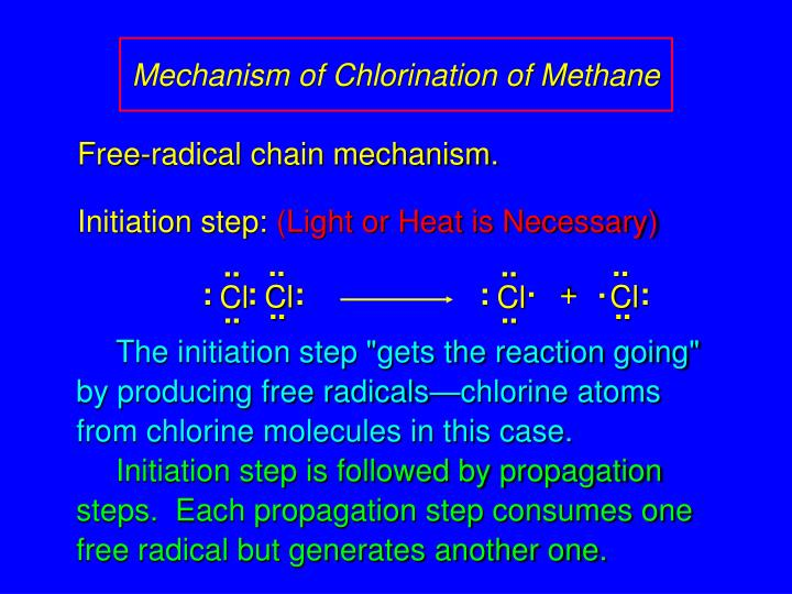 radical halogenation and gas chromatography 2018-4-8 radical monochlorination of 2,2,5-trimethylhexane results in the formation of five monochlorination products because the relative amounts of the five alkyl halides total 35 (90 + 76 + 76 + 50  radical halogenation of an alkane is nevertheless still a useful reaction because it is the only way to convert an inert alkane into a reactive.