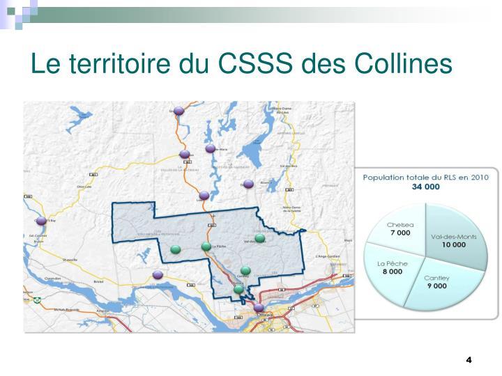 Le territoire du CSSS des Collines