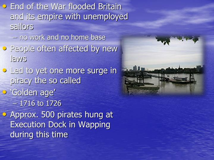 End of the War flooded Britain and its empire with unemployed sailors