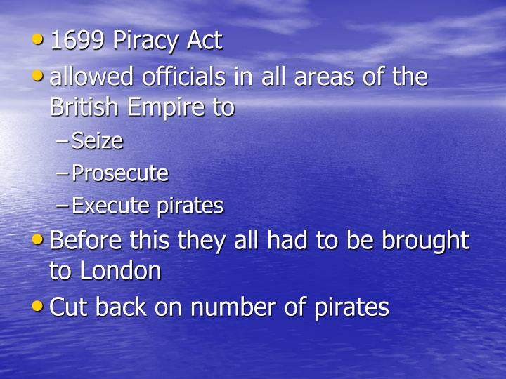 1699 Piracy Act
